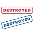 Destroyed Rubber Stamps vector image vector image
