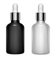dropper bottle set serum cosmetic clear oil vial vector image vector image