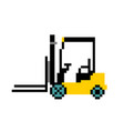 forklift icon warehouse forklift fork lift vector image