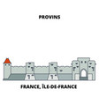 france ile-de-france - provins town of medieval vector image