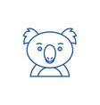 funny koala line icon concept funny koala flat vector image vector image