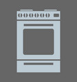 gas stove icon with minimal style vector image