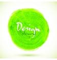 Green acrylic paint circle vector image