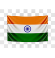 hanging flag india republic india national vector image