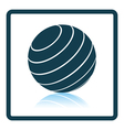 Icon of Fitness rubber ball vector image vector image