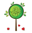 isolated apple tree on white vector image vector image