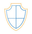 isolated shield design vector image