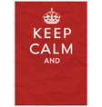 Keep calm editorial vector image