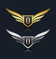 letter g emblem logo vector image