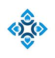 Logo Pure Water Drop Symbol Icon Liquid vector image