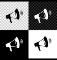 megaphone icon isolated on black white and vector image vector image