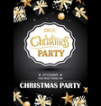 merry christmas party and gift box on black vector image vector image