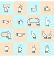 modern thin line flat design of hands vector image