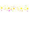 multicolored falling stars of confetti luxurious vector image