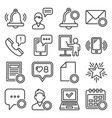 notification icons set on white background line vector image vector image