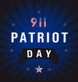 patriot day usa star blue stripes vector image vector image