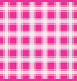 pink gingham pattern geometric background vector image vector image