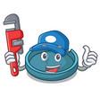 plumber ashtray mascot cartoon style vector image