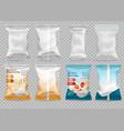 polypropylene plastic packaging - instant vector image vector image