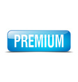 premium blue square 3d realistic isolated web vector image vector image