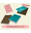 Print icons set3 vector image vector image