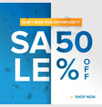 promotion square banner vector image vector image