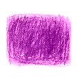 purple crayon scribble texture stain isolated on vector image