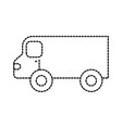 restaurant food truck trasnport service vector image vector image