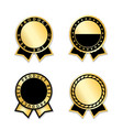 ribbons award best product year set gold vector image vector image