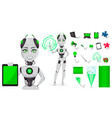 robot with artificial intelligence female bot vector image vector image