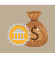 savings in the bank vector image vector image