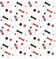 seamless black and red bow dot pattern with vector image vector image