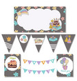 set of birthday party elements set of birthday vector image vector image