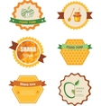 set of six icons for Rosh Hashana jewish holiday vector image vector image