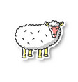 sheep patch vector image