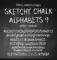 sketchy alphabets vector image vector image
