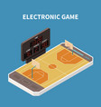 sport field isometric composition vector image vector image
