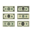 template of fake money pictures of dollars vector image vector image
