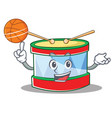 with basketball toy drum character cartoon vector image vector image
