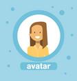 woman avatar businesswoman profile icon element vector image vector image