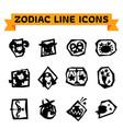 zodiac line icons vector image vector image