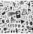 Music - seamless background vector image