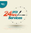 24 hours open services vector image