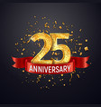 25 years anniversary logo template on dark vector image vector image