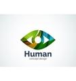 Abstract business company human eye logo template vector image vector image