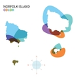 Abstract color map of Norfolk Island vector image vector image