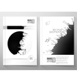 Abstract hand drawn spotted gray-black background vector image vector image