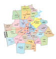 administrative and road map atlanta georgia vector image vector image