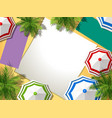 aerial view summer beach vector image vector image
