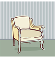 antique chair retro style vector image vector image